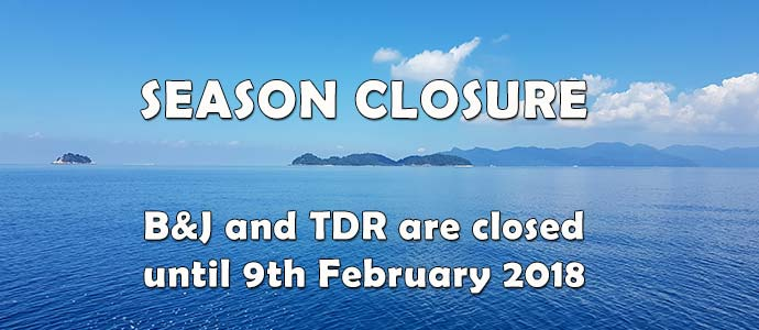 Tioman closed until 9th February 2018