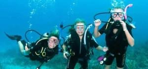 Children scuba diving Malaysia