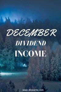 Dividend Income – December 2016