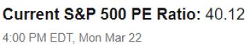 PE Ratio - SP 500