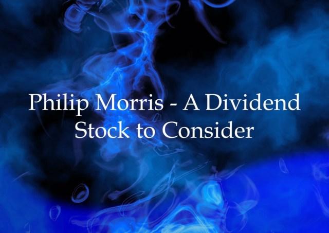Philip Morris Dividend Stock