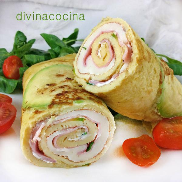 Receta de rollitos de tortilla  Divina Cocina