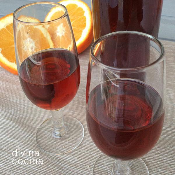 Receta de vino de naranja casero y fcil  Divina Cocina