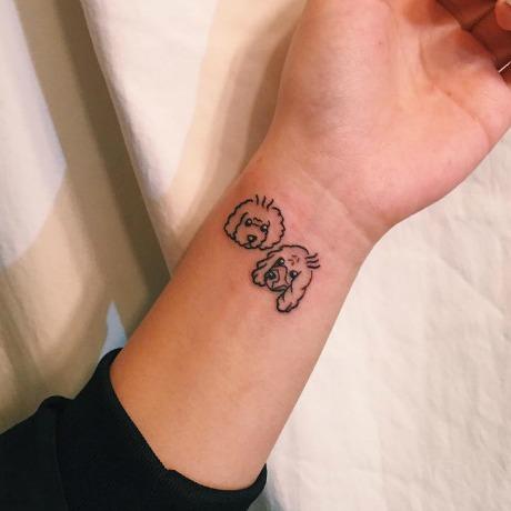 Tatuajes de perros en blanco y negro que te inspirarán