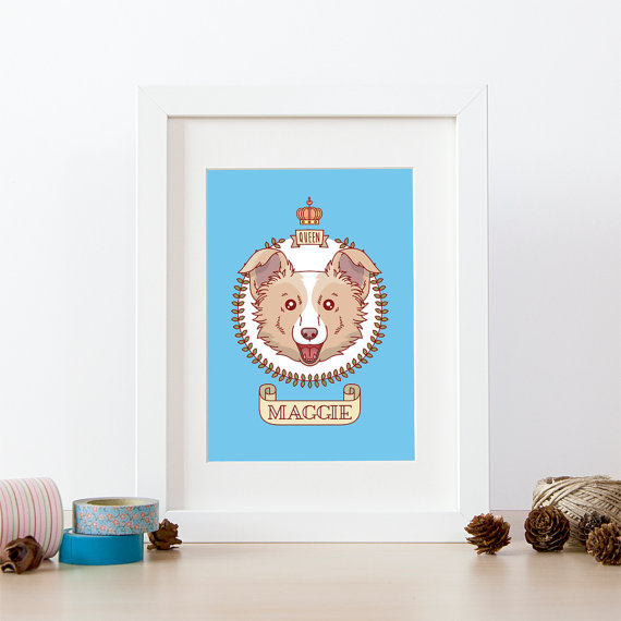 Una ilustracin de tu perro personalizada  Divine Chien