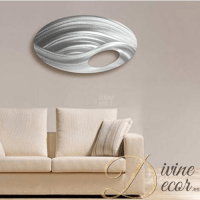 Oval Contemporary Metal Wall Art - DivineDecor.es