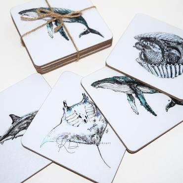 marine-life-coasters-rachel-brooks-art