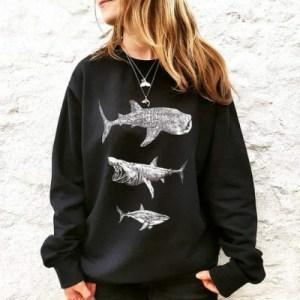 three-giant-sharks-sweater-rachel-brooks-art