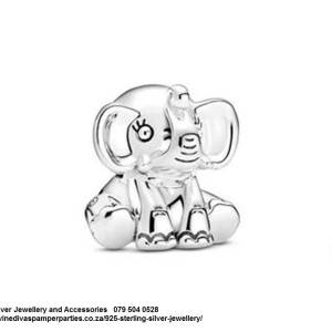 925 Sterling Silver Elephant Charm. Pandora Compatible