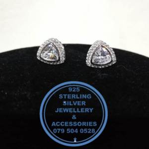 925 Sterling Silver Earring - Showstopper detailed cubic stud - 1 pair Prices Excludes National delivery to your door at a nominal fee.