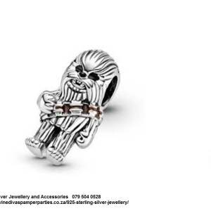 Sterling Silver Chewbacca Star Wars Pandora Compatible Charm