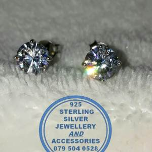 """""""925 Sterling Silver Available in 6mm or 7mm Cubic Earring Studs"""""""