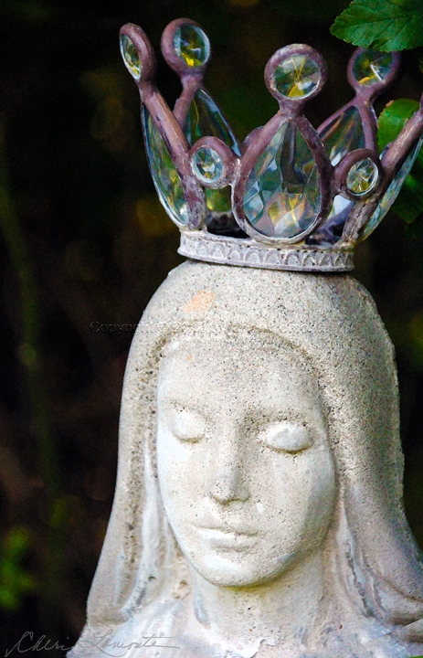 Mary Crowned - Sacred Art Photograph by Cheri Lomonte