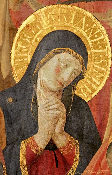 Mary Grieving from The Deposition of Christ by Fra' Angelico 1432-34 - Sacred Art Photograph by Cheri Lomonte
