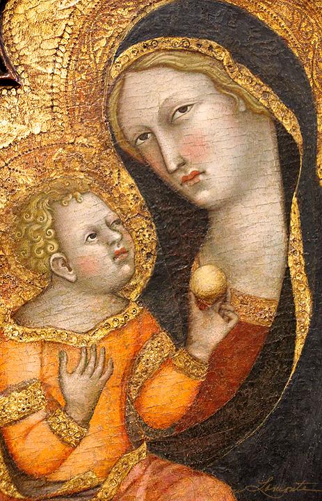 Mother and Child by Bartollo di Ferdi - 14 Century - Sacred Art Photograph by Cheri Lomonte