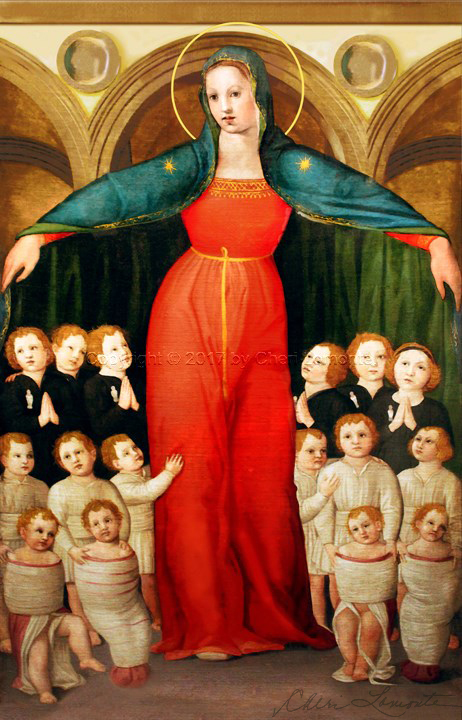 Our Lady of Mercy by Francesco Granacci - 16 Century - Sacred Art Photograph by Cheri Lomonte