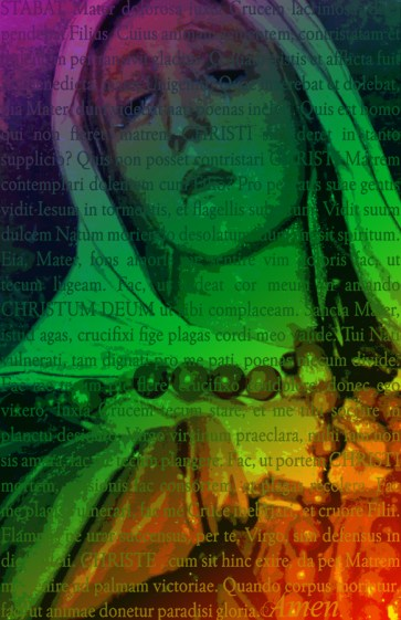 "Stabat Mater - Poster - 11"" X 17"" - Sacred Art Photograph by Cheri Lomonte"