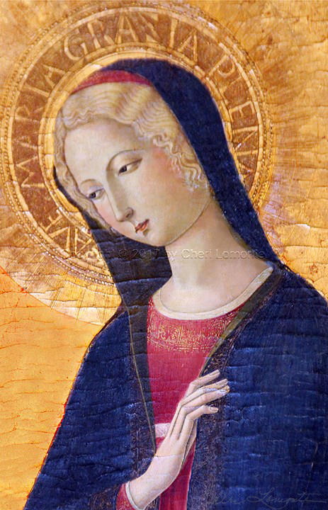 The Annunciation by Benvenito di Giovanni del Guasta - 1466 - Sacred Art Photograph by Cheri Lomonte