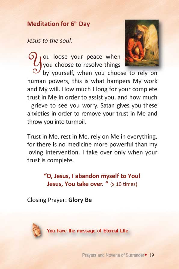 Divine Mercy Books Surrender Novena Prayer Of Trust
