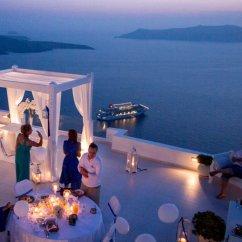 Dinner Table And Chairs Kochs Barber Chair Private At Dana Villas Wedding Terrace   Divine Weddings Santorini Planner ...