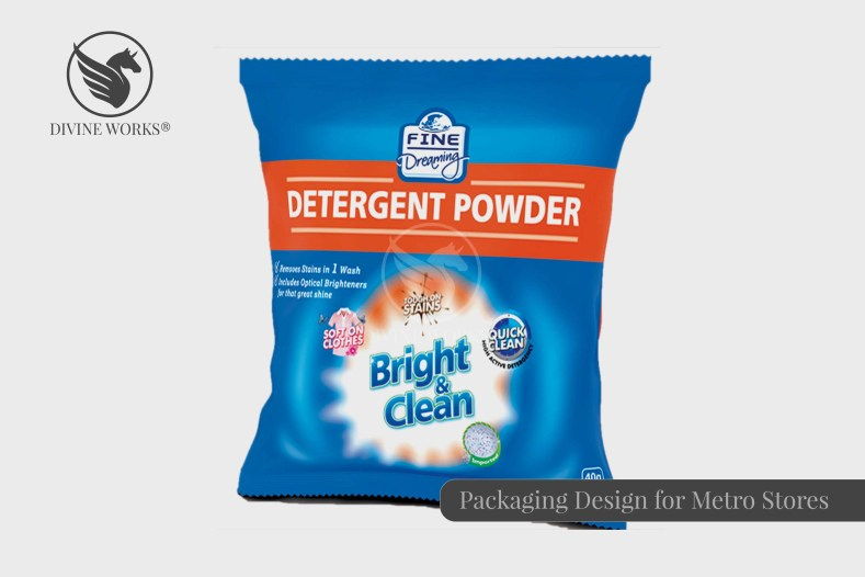 Metro Detergent Packaging Design By Divine Works