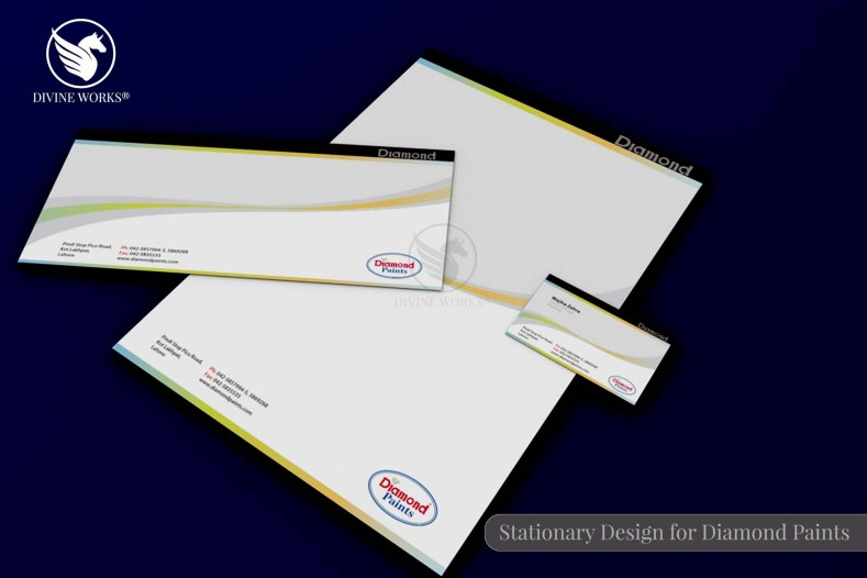 Diamond Paints Stationary Design By Divine Works