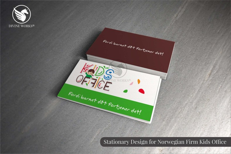Kids Office Business Card Design By Divine Works
