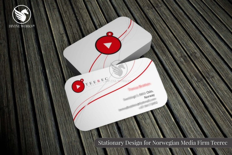 Teerec Business Card Design By Divine Works