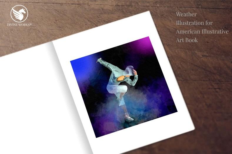 Dancer - digital raster illustration