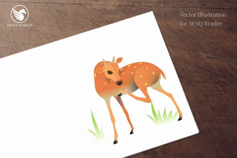 Deer - digital raster illustration