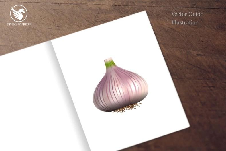 Onion Hand - digital vector illustration