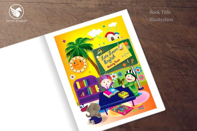 Book Title - digital vector illustration