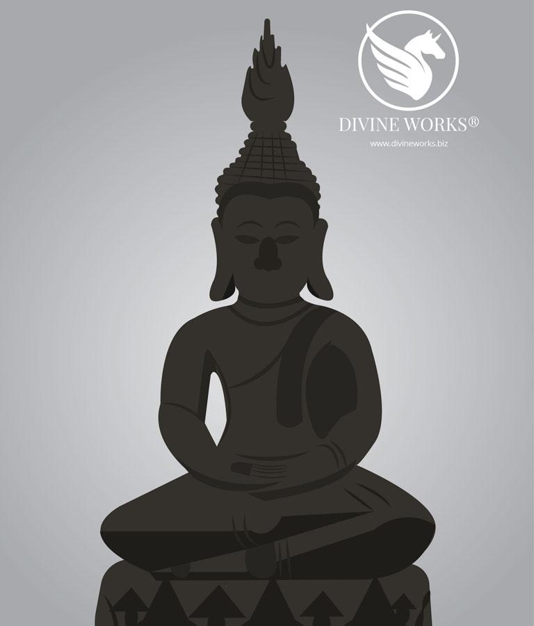 Budha Vector Illustration by Divine Works