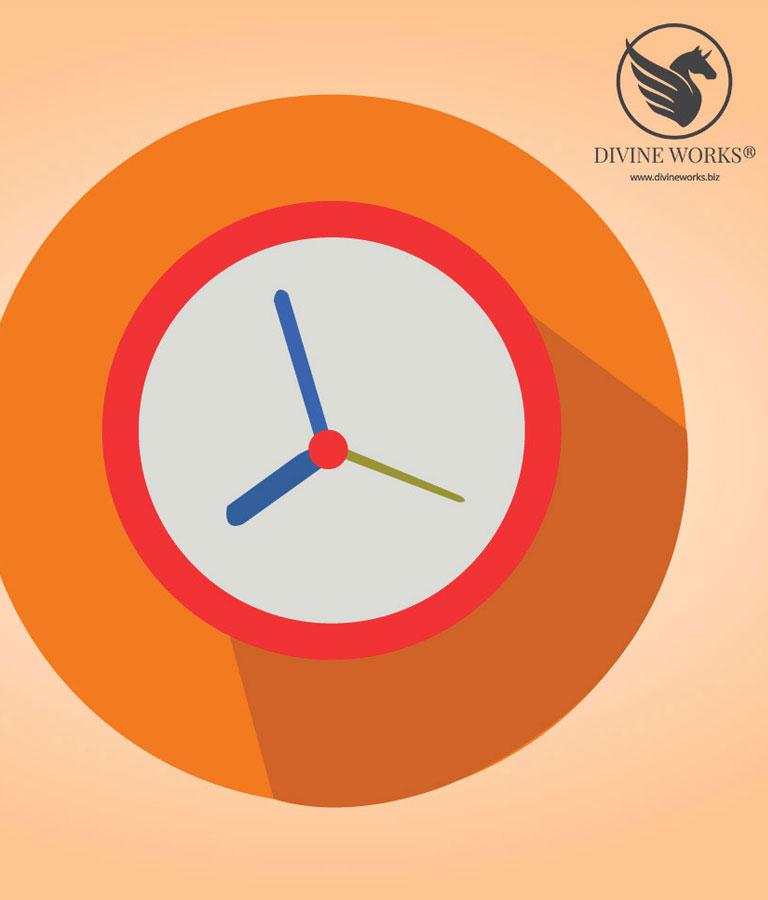 Clock Vector Illustration by Divine Works