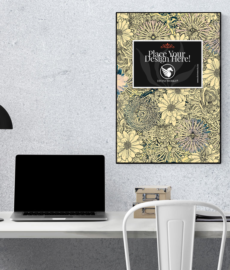 Free Wall Poster Mockup by Divine Works