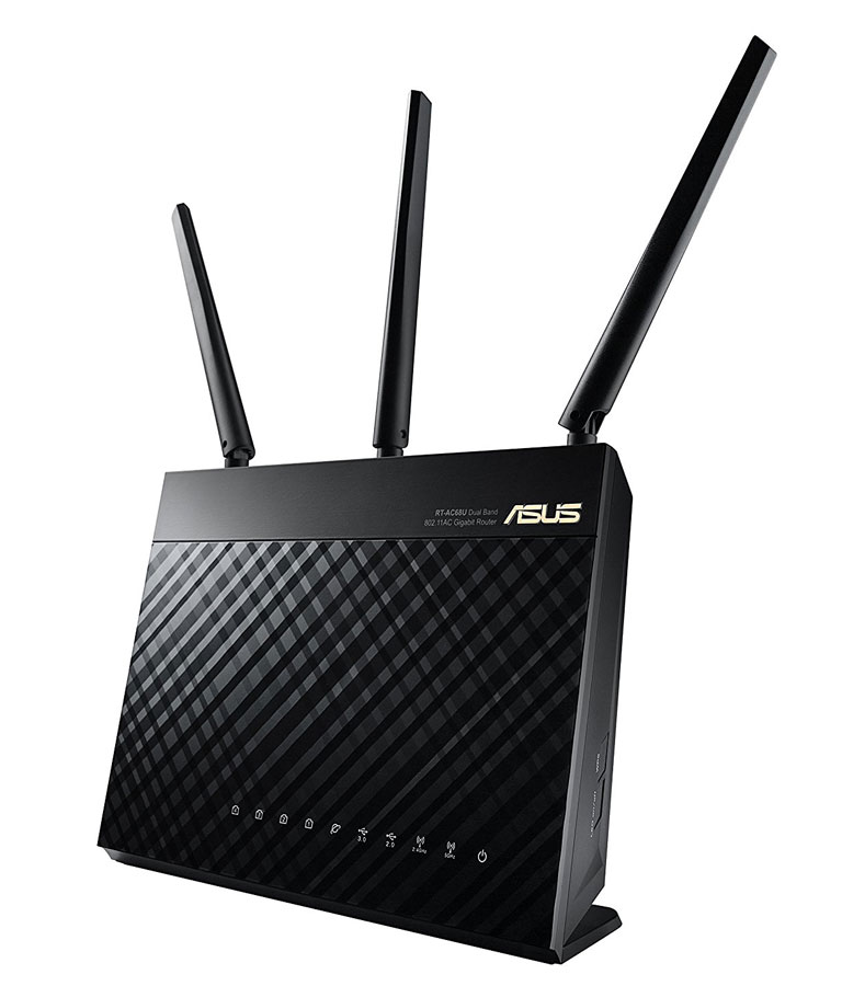 ASUS AC1900 WiFi Dual-band 3×3 Gigabit Wireless Router with AiProtection Network Security Powered by Trend Micro, AiMesh Whole Home WiFi System Compatible (RT-AC68U)