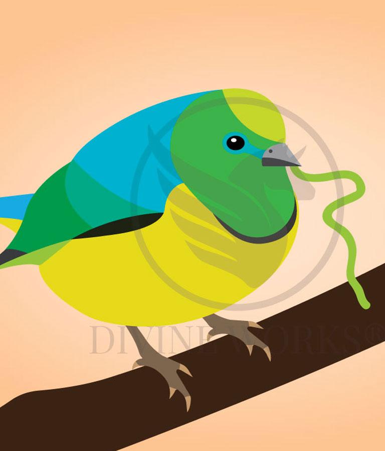 Free Bird Vector Illustration Download by Divine Works