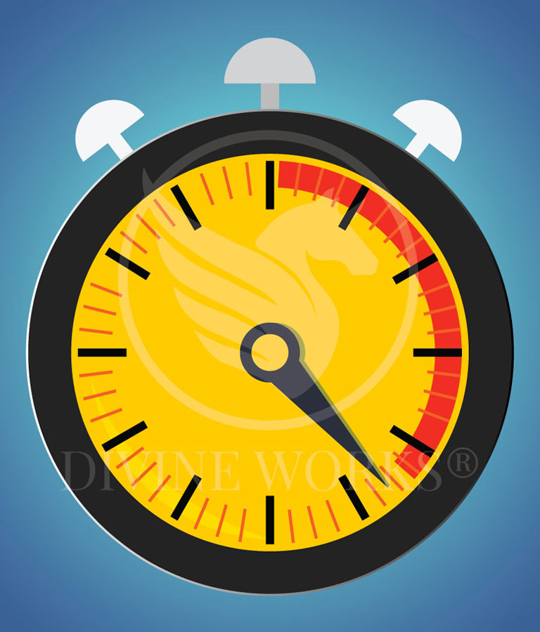 Stop Watch Vector Illustration by Divine Works