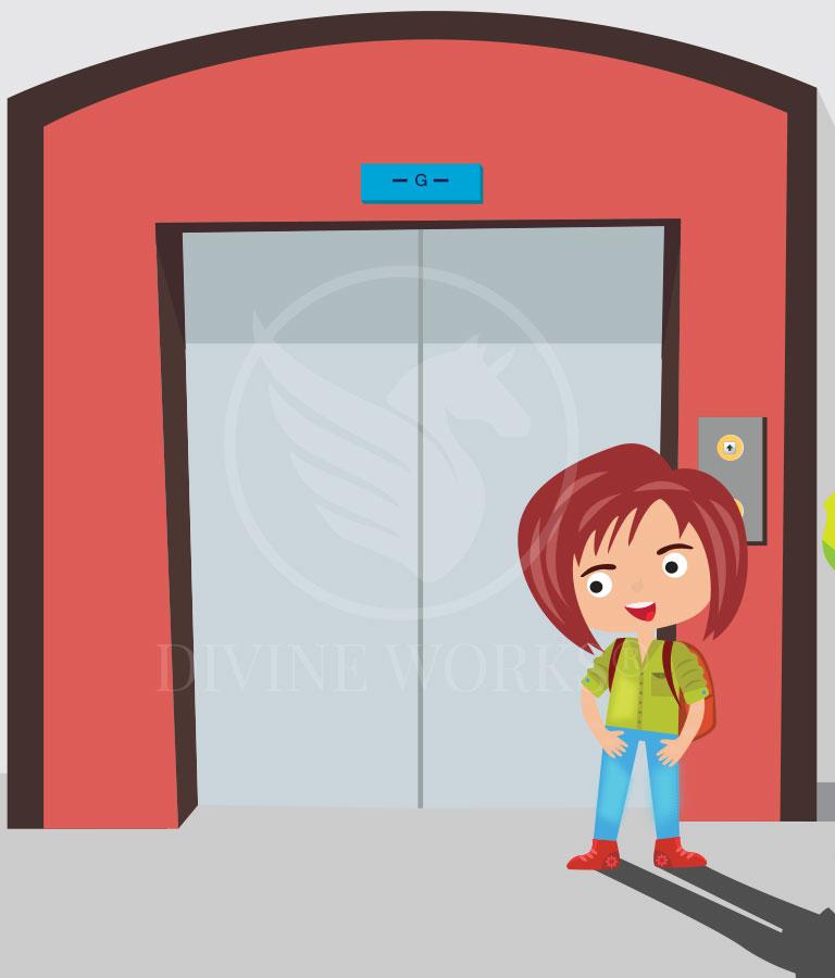 Free Lift Girl Adobe Illustrator Vector Illustration by Divine Works