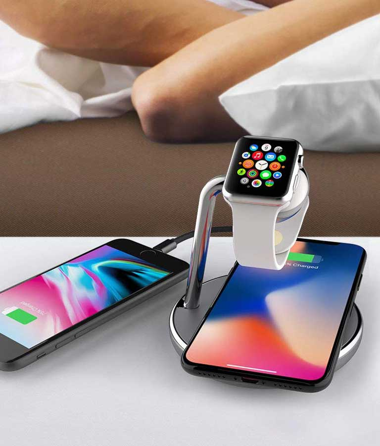 Mangotek iPhone X Wireless Charger Apple Watch Stand