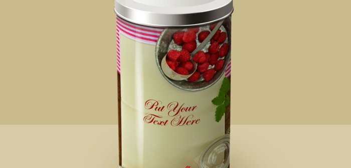 Free Tin Can Mockup by Divine Works