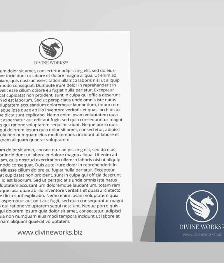 Free Letterhead With Business Card Mockup by Divine Works