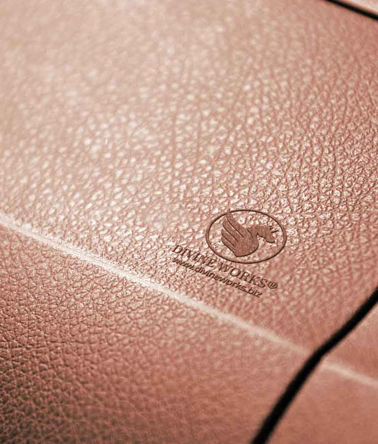 Free Leather Stamp Logo Mockup by Divine Works