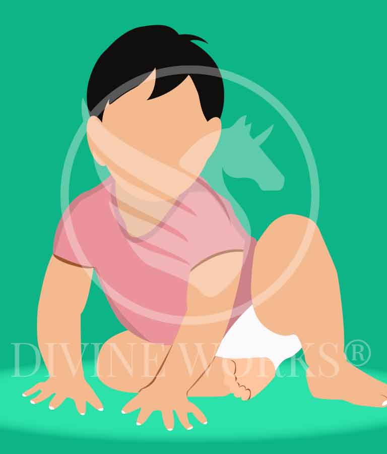 Free Adobe Illustrator Baby Boy Vector Illustration by Divine Works