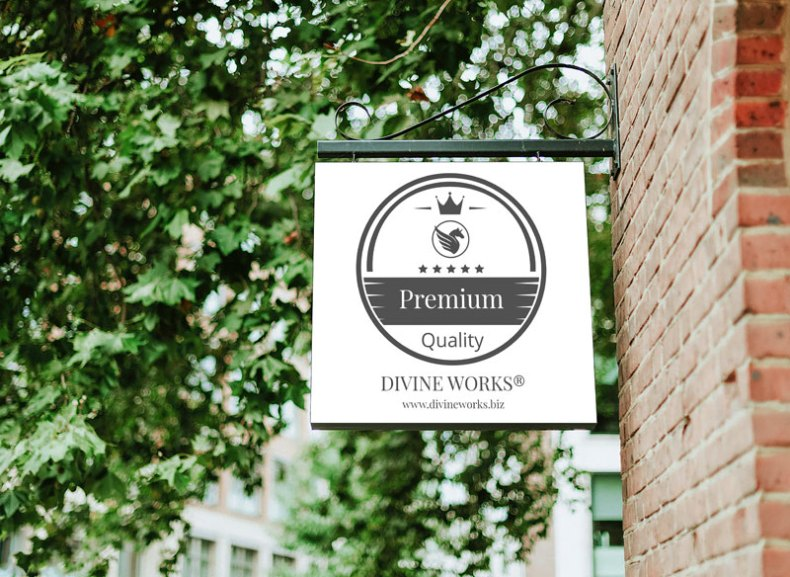 Free Shop Wall Sign Mockup by Divine Works