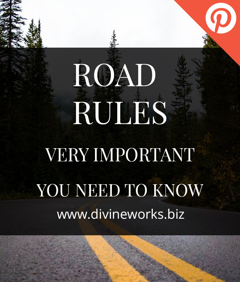 Free Road Rules Pinterest Post Templates by Divine Works