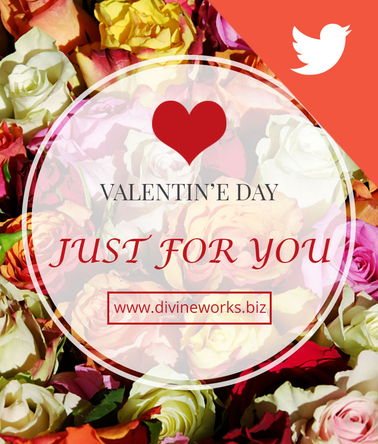 Free Valentine's Day Twitter Post Templates by Divine Works
