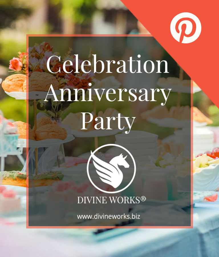 Free Anniversary Celebration Pinterest Post Template by Divine Works