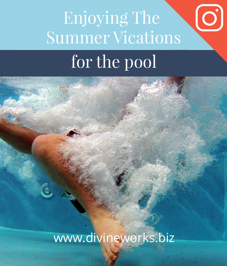 Summer Vacation Instagram Post Template by Divine Works