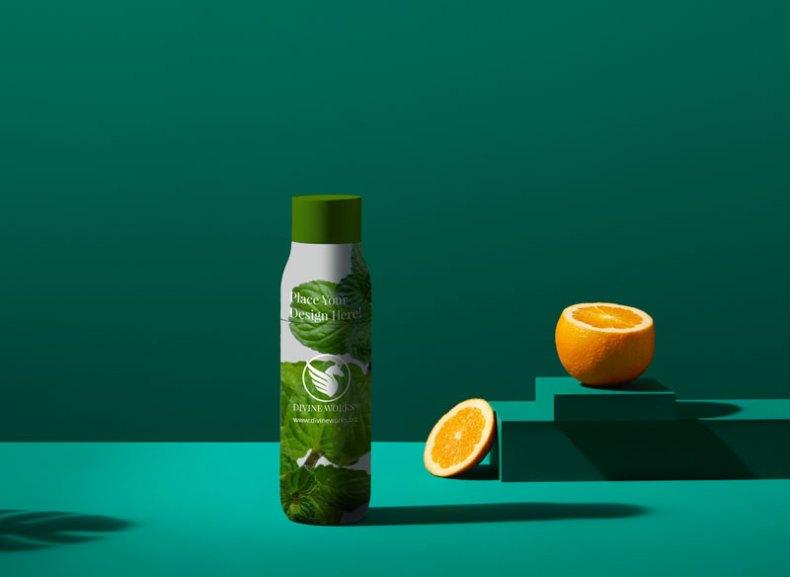Free Herbal Cosmetic Bottle Mockup by Divine Works